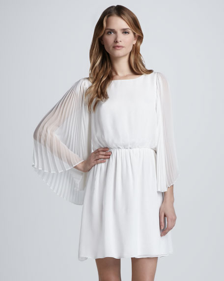 Florence Pleat-Sleeve Dress