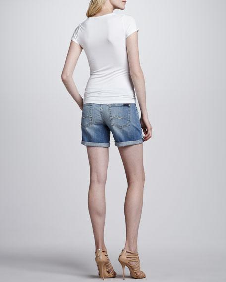 Mid Roll Up Shorts, Summer Canyon