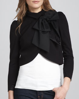 Alice + Olivia Addison Bow-Collar Jacket