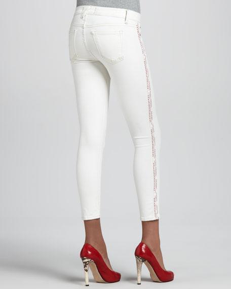 Dean Sugar Side-Stripe Skinny Jeans