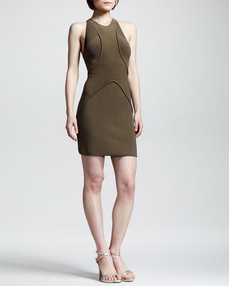 Drielly Ribbed Halter Dress
