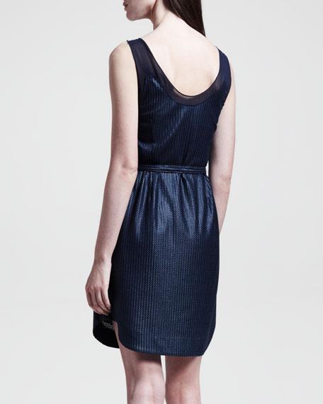 Dana Belted Knit Dress, Navy