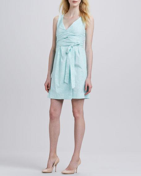 Carol Mini Tie-Waist Printed Dress