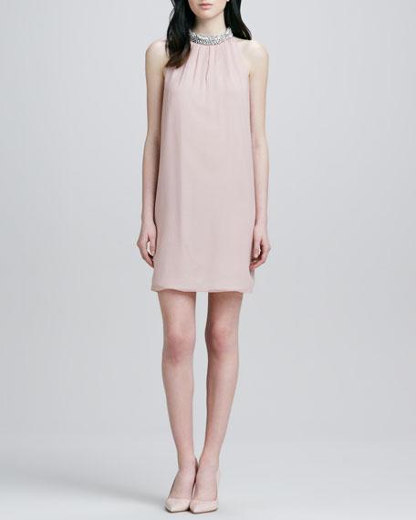 Lainey Jeweled Halter Dress