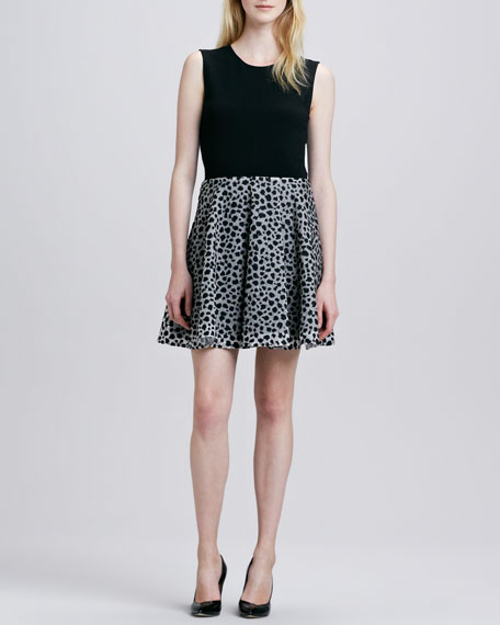 Jeannie Leopard Dots Combo Dress
