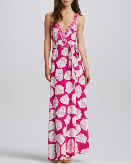 Samson Halter Printed Maxi Dress