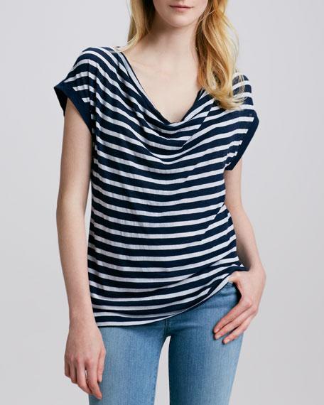 Striped Slub Top