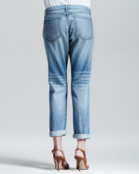 Boyfriend Moss Ripped-Knee Jeans
