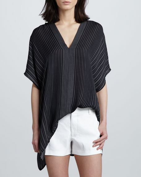 Striped V-Neck Blouse