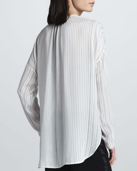 Striped Long-Sleeve Blouse