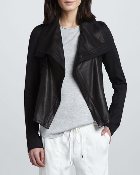 Mix-Fabric Asymmetric Jacket