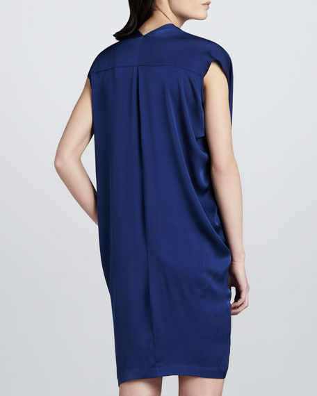 Stretch-Silk V-Neck Dress