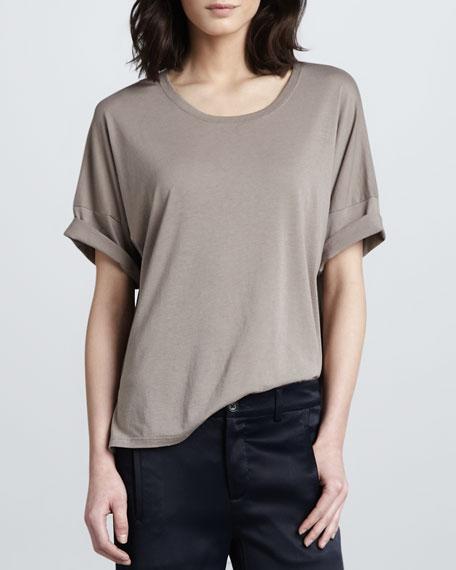 Drop-Shoulder Jersey Top