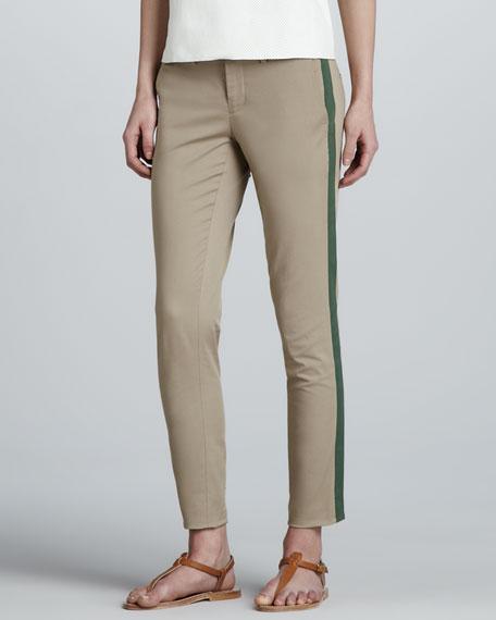 Side-Stripe Twill Pants