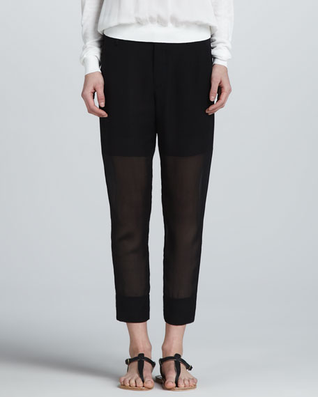 Relaxed Sheer Pants