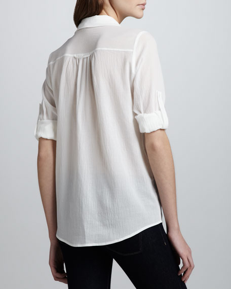 Pinot Rolled-Sleeve Blouse