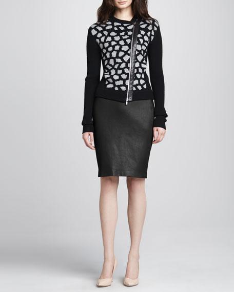 Marta Panel Leather Skirt