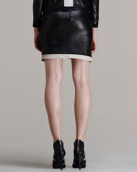 Evolution Leather Skirt