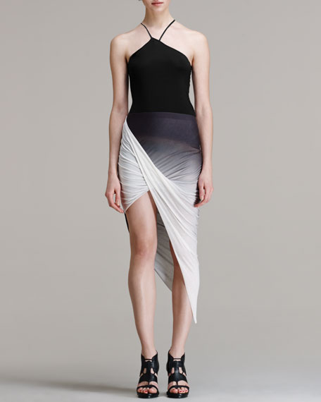 Shadow Ombre Asymmetrical Skirt
