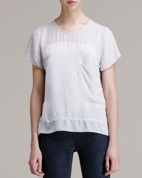 Soft Shroud Oversize Tunic, White Ash