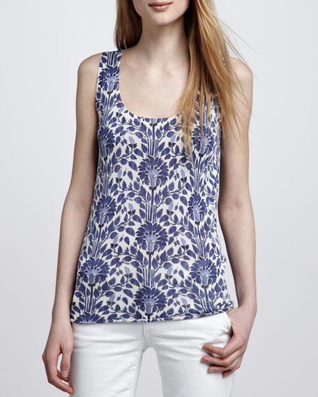 Irving Vine-Print Tank Top