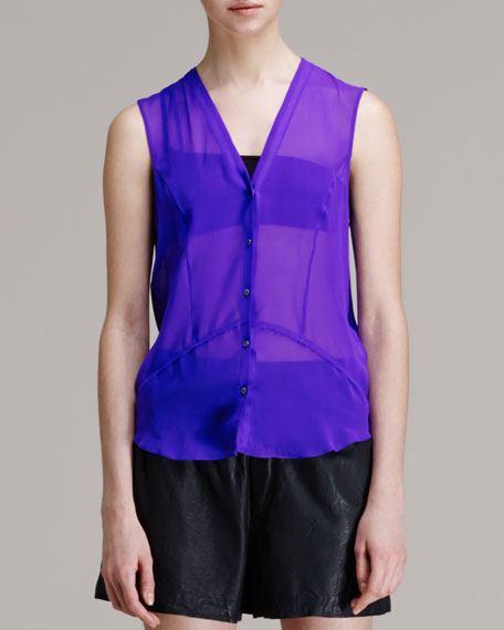 Ghost Sheer Silk Top