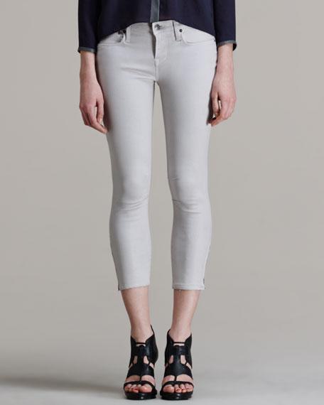 Halo High-Gloss Cropped Skinny Pants