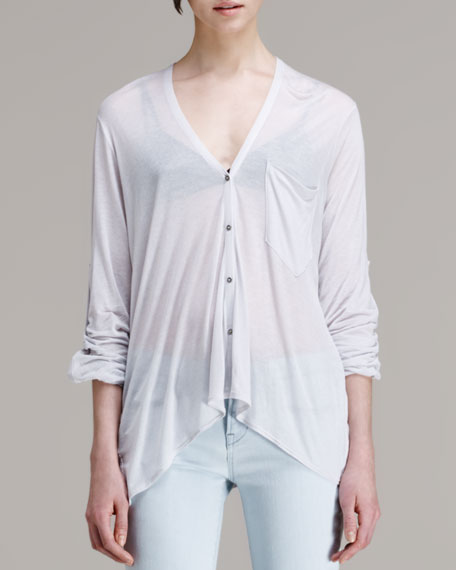 Electra Long-Sleeve Pocket Tee Cardigan