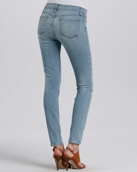 Mid-Rise Faded Slim Jeans