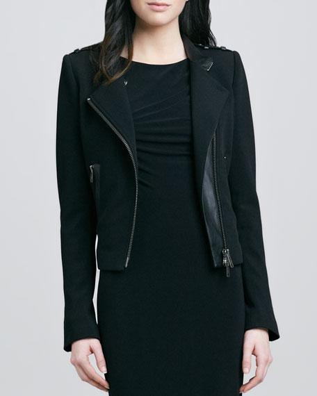 Freda Asymmetric Jacket, Black