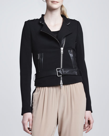Freda Asymmetric Jacket, Black