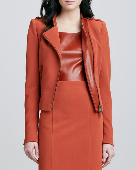 Freda Asymmetric Jacket, Rust
