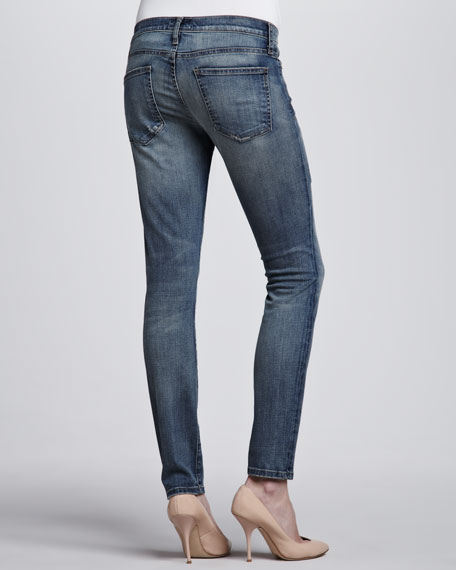 The Ankle Skinny Jeans, Pixie with Repair Wash