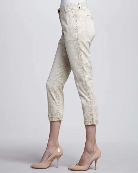 Buddy Cropped Trousers, Beach Dune
