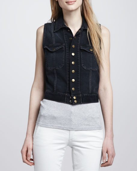 The Sleeveless Snap Jacket