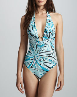 Emilio Pucci Chicago U-Center One-Piece Swimsuit