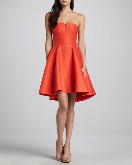 Strapless Flared Taffeta Skirt