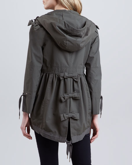 Canvas Anorak with Back Bow Detail, Earth