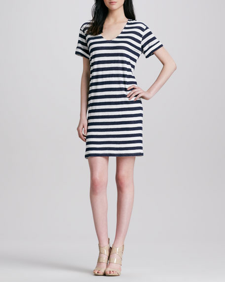 Karelo Striped Slub Dress