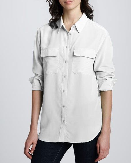 Signature Button-Down Blouse