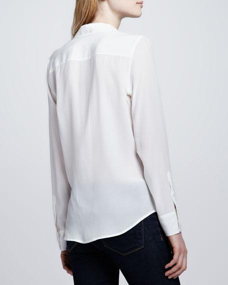 Brett Button-Up Blouse, White