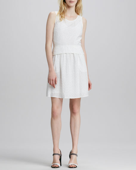 Rosie Sleeveless Eyelet Dress