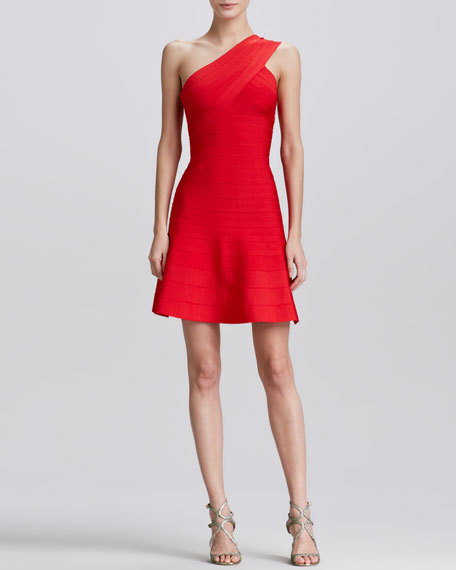 One-Shoulder Skirted Dress