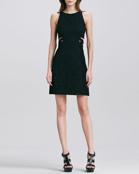Mediterranean Cutout Sleeveless Dress