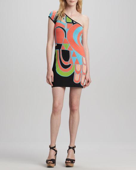 Amorcito One-Shoulder Knit Dress