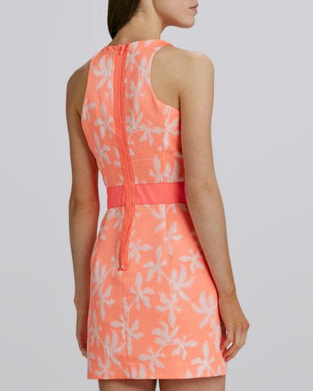 Sonya Two-Tone Short Jacquard Dress