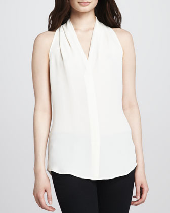Hylin Sleeveless Silk Blouse