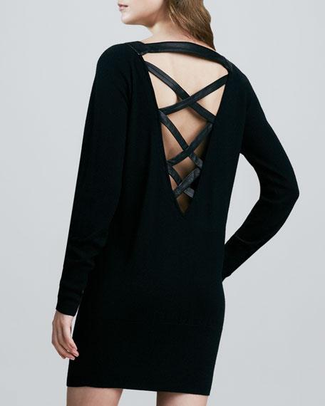 Strappy-Back Wool Dress