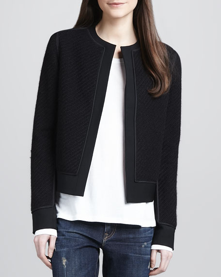 Textured Open Jacket