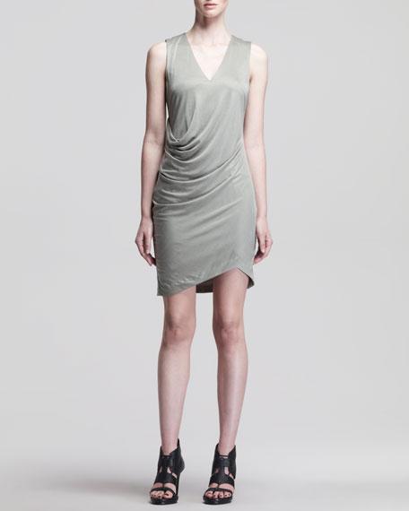 Shale Side-Tuck Jersey Dress